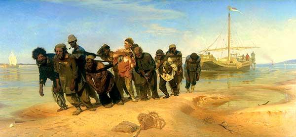 Илья Репин Бурлаки на Волге, 1872—1873 Холст, масло. 131,5?281 см Государственный Русский музей, Санкт-Петербург.